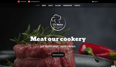 Responsive HTML5 Template for Restaurant